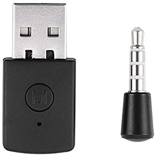 Diyeeni Adaptador USB Mini USB 4.0 Adaptador Bluetooth/Dongle Receptor y transmisores para Playstation PS4 con micrófono i...