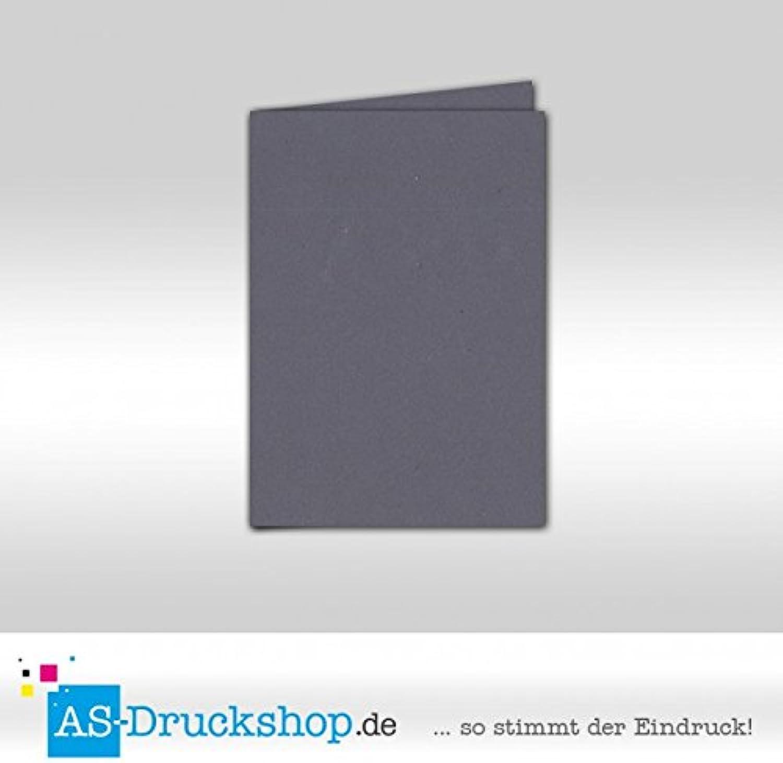 Faltkarte Doppelkarte - Granite - Naturfarbe 100 Stück DIN A6 B0794Y6712 | Abrechnungspreis