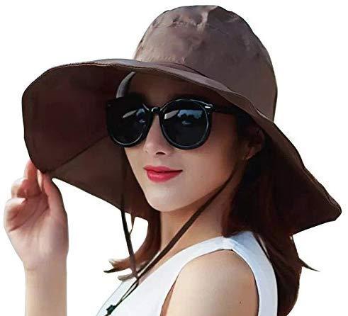 FengDing Sombrero de Lluvia para Mujeres, protección UV para Exterior