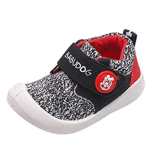 Alwayswin Unisex - Kinder Atmungsaktive Sportschuhe Socken Schuhe Jungen und Mädchen Fliegen Gewebte Hohle Einzelne Schuhe Feste Weiche Mesh Turnschuhe Solide Slip-On Sneaker (24, D Schwarz)