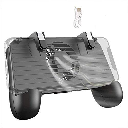 QCHEA Controlador móvil con Cargador portátil Compatiple de Ventilador de enfriamiento for PUBG, L1R1 Disparador de Juegos móviles Joystick Gamepad Grip Remote for teléfono de 4-6.5'[2000mAh]