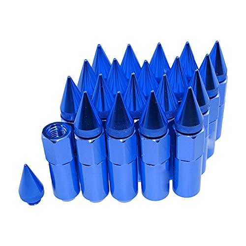 TIANXIANG canjiao Shop Aluminio Universal 20pcs / Set 12x1.5 Styling tunning suning 60mm extendido sintonizador Ruedas Llantas Lug Nuts Racing JDM Estilo LGLM001 (Color : Blue)