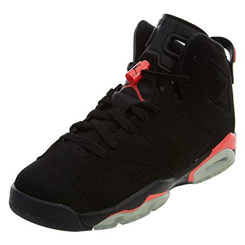 Nike Herren Air Jordan 6 Retro BG Fitnessschuhe, Schwarz Rot Schwarz Infrarot 23, 38 EU