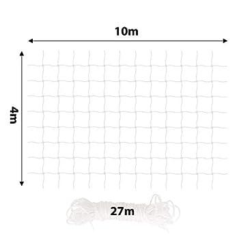 Filet pour Chat Filet de Protection pour Balcon 4 x 10 m