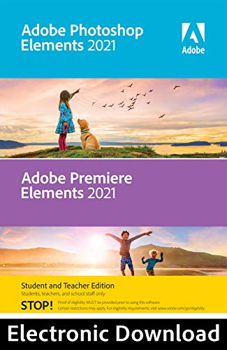 Adobe Photoshop Elements 2021 & Premiere Elements 2021 Student and Teacher [PC Online code]