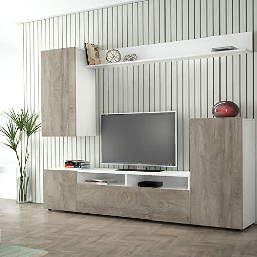 Milani Home s.r.l.s. Parete attrezzata Porta TV Soggiorno Moderna di Design 207 x 34 x 170 h