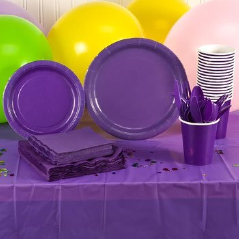 Vuelta de 10 dias púrpura púrpura púrpura Plastic Party Eatery Set (16 People) by Perfect Party  100% precio garantizado