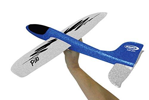 Jamara 460306 Pilo Schaumwurfgleiter EPP Blau/Weiß – 48cm Spannweite, Super leicht, Fast Unzerstörbar, Looping, Gleitflug