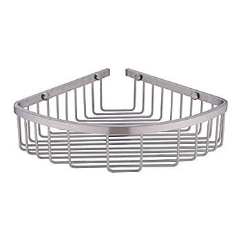 304 Stainless Steel Shower Caddy Corner Basket Shelf Bathroom Organizer Wall Mounted Storage Brushed Nickel