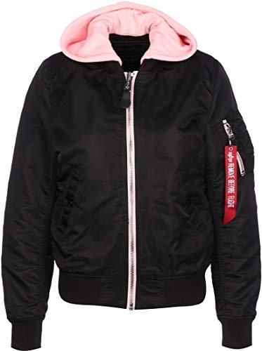 ALPHA INDUSTRIES MA-1 TT Hood Damen Jacke, Farbe:Schwarz, Größe:S