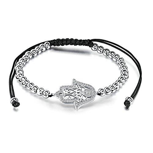Aooaz Edelstahl Vergoldet Armband für Frauen Hirschkopf Weiß Armreif Armband 17CM mit 10cm Verlänger
