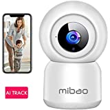 Mibao Baby Monitor Camera, 1080P FHD Security Camera Indoor, Home Camera, WiFi Camera with Night Vision, Motion Detection, 2-Way Audio, Works with Alexa