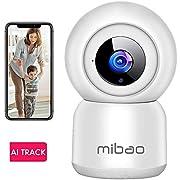 Cámara de Vigilancia WiFi Mibao 1080P Cámara IP Inalámbrica, HD Visión Nocturna, Detección de Movimiento Remoto, Alerta de aplicación, Audio Bidireccional, Monitor para Bebé/Mascota