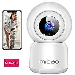 Wi-Fi IP Camera Surveillance Camera 1080P, IP Camera WiFi Mibao Night Vision 2 Way Audio Smart, Home Camera /Pet Baby Camera IP Camera, App Control Supported, Remote Alarm*
