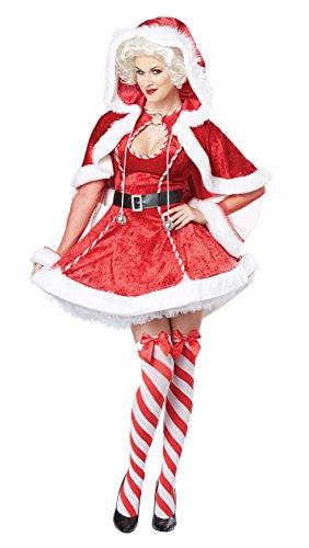 California Costumes Women's Sexy Mrs. Claus Adult, Red/White, Medium
