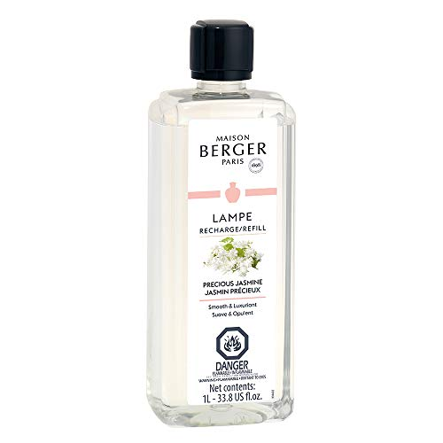 Precious Jasmine | Lampe Berger Fragrance Refill for Home Fragrance Oil Diffuser | Purifying and perfuming Your Home | 33.8 Fluid Ounces - 1 Liter | Made in France