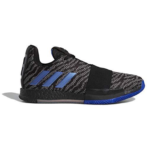adidas Harden Vol 3 Black/Blue/Grey Basketball Shoes 9