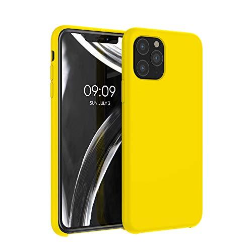 kwmobile Custodia Compatibile con Apple iPhone 11 PRO - Cover in Silicone TPU - Back Case per Smartphone - Protezione Gommata Giallo Acceso
