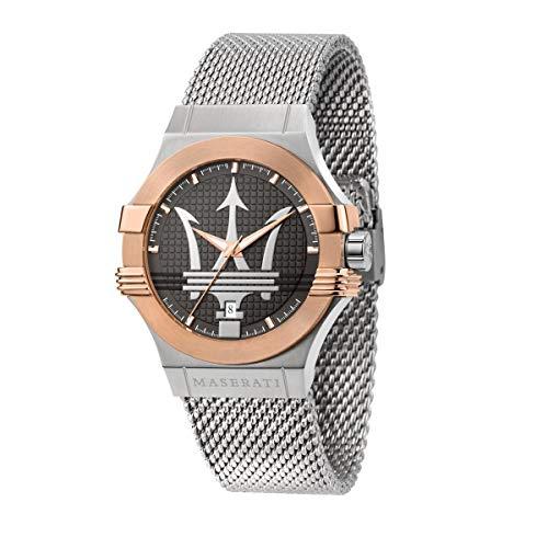 Maserati Reloj para Hombre, Colección Potenza, en Acero Inoxidable, PVD Oro Rosa, con Correa de Acero Inoxidable - R8853108007