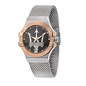 Maserati Reloj para Hombre, Colección Potenza, en Acero Inoxidable, PVD