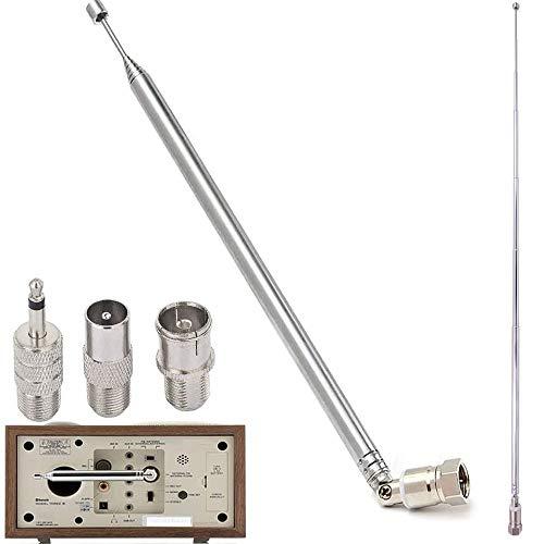 RUNCCI-YUN Antenne Radio FM Antenne Chaine HiFi, Ancable Télescopique pour Mini-Récepteur