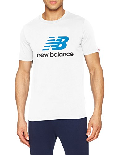 New Balance MT73587 T-Shirt, Blanco (White WM), XL Homme