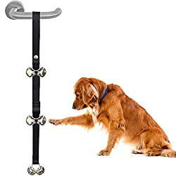 Toilet training aid for dogs. Endorsed by Pet Industry Professionals, Breeders, Trainers & Veterinarians. Simple repetition training. Perfect for any breed or age dog. Three sets of bells are easily reachable by any dog. Easily Hangs on Any Doorknob ...