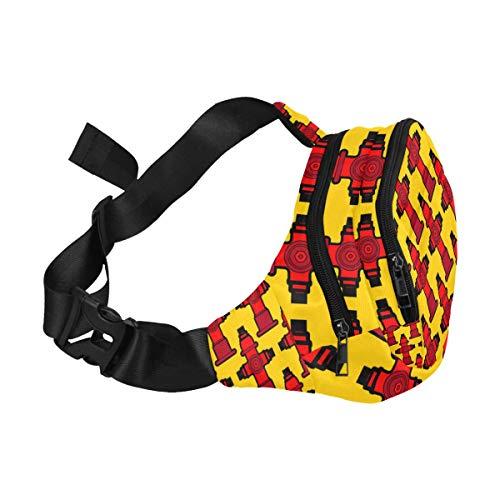 Waist Belt Bag For Women Cute Creative Cartoon Fire Extinguisher Adjustable Belt Waterproof Nylon Fenny Pack Comfortable Travel Bag Designer Waist Bag Runner Fanny Pack
