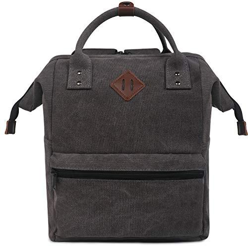 Oflamn City Rucksack Klein Damen Herren Vintage Daypack Laptop Tasche 14 Zoll 14liters (schwarz)