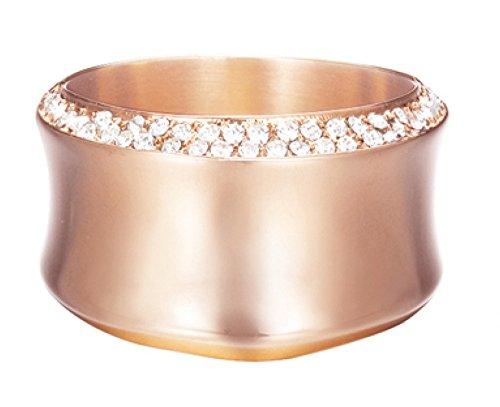 Esprit Damen-Ring Edelstahl Zirkonia crystal curve rose weiß ESRG12542C170