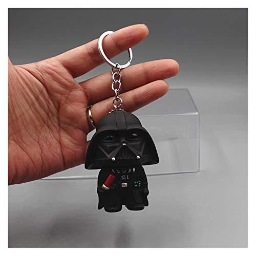 Porte-clés Disney 3D Star Wars en PVC, figurine animée Dark Vador Yoda pour enfants, cadeau (couleur : 1, taille : normale)