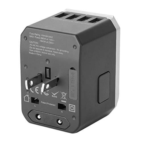 Liyeehao Adaptador de Enchufe del Cargador, Cargador USB, portátil, Resistente, Duradero, Conveniente para tabletas, teléfonos Inteligentes