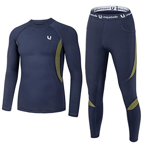 Ropa de esquí térmica para hombre UNIQUEBELLA Suit – 8 colores
