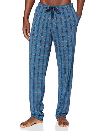 Schiesser Herren Mix & Relax Hose Lang Pyjamaunterteil, blau, 050