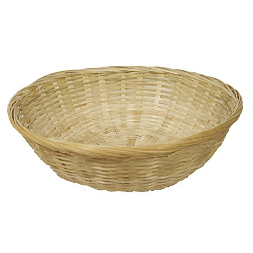 FloristryWarehouse Round Wicker 12 inch Fruit Baskets. Pack of 4. Empty 30cm food gift hamper: Amazon.co.uk: Kitchen & Home