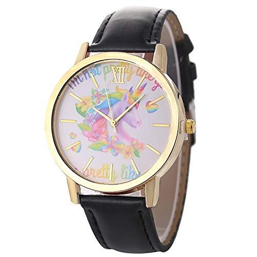 Señoras correa de cuero casual cuarzo impermeable retro moda elegante reloj caliente de moda popular agradable Sweety regalo