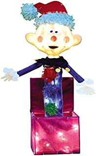 ProductWorks 18-Inch Pre-Lit Misfit Charlie in The Box Christmas Yard Decoration, 35 Lights