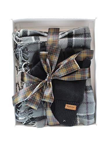 Barbour - Gy71 scarf & glove set grey juniper BAACC1944