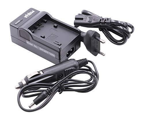 vhbw Ladegerät Ladekabel mit Kfz-Lader kompatibel mit Sony DCR-SX30E, DCR-SX31, DCR-SX31E, DCR-SX50, DCR-SX50E, HDR-CX6(EK) Ersatz für NP-FH40, NP-FH50.