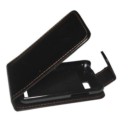 Mobilfunk Krause - Flip Hülle Etui Handytasche Tasche Hülle für Motorola Defy+ (Schwarz)