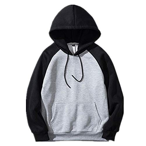 YJNH Mens Pullover Long Sleeve Color Matching Kangaroo Pocket Hoodie Sweatshirt Outdoor Loose Comfortable Sport Fitness Casual Daily Wear Streetwear Spring, Autumn and Winter New 4XL