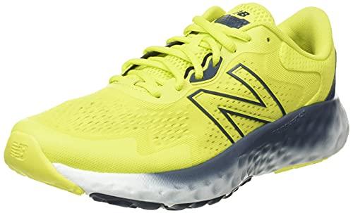 New Balance MEVOZV1 Zapatillas para Correr, Amarillo (Sulphur Yellow/Gray), 44 EU