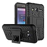 PIXFAB Alcatel U3 3G 4049X Black Dual Layer Hybrid Tough