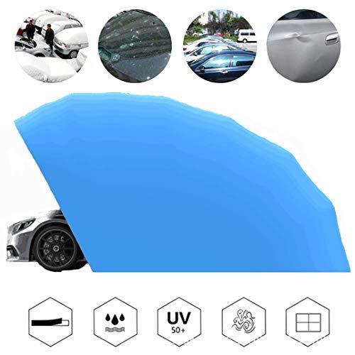 GJZhuan Mobil Garage Auto Zelt, beweglicher beweglicher Carport Faltbare Außen Heavy Duty Stahlrahmen Carport, mit Anti-UV, wasserdicht, Winddicht, Schnee, Sturm (Stainless),Blue