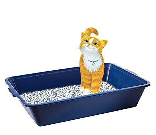 Fresh Step for Pets Plastic Disposable Litter Box, Blue (FF8302)