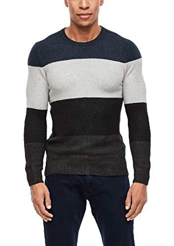 s.Oliver Herren 13.910.61.6593 Pullover, Blau (Classic Navy 58g0), Large (Herstellergröße: L)