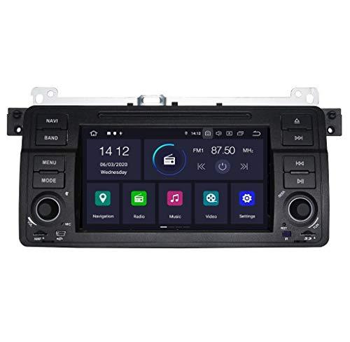 marsdev.pl Unidad Principal Android 2 DIN Car Stereo Compatible con BWM Series 3 E46 y Rover 75 4GB RAM 64GB ROM Octa Core
