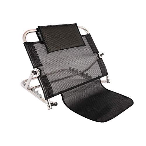 szy Bettkeile Bettwedge Edelstahl Restbettstütze Bett Rückenlehne Einstellbare Winkel Rückenlehne (Color : Black, Size : 62 * 50 * 26-53cm)