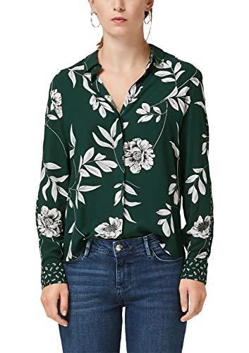 s.Oliver Damen 14.908.11.2531 Bluse, Grün (Emerald AOP 78a6), (Herstellergröße: 40)