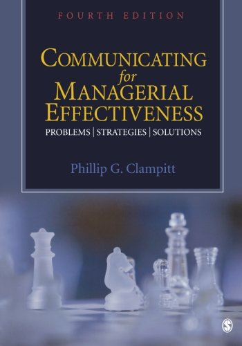 Communicating for Managerial Effectiveness: Problems ¦...
